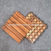 FLOOR DECKING / ACACIA DECKING FLIESEN 30 * 30CM INTERLOCKING